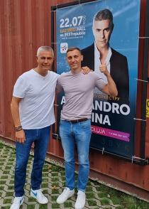 Alessandro Safina has performed a mini-tour in Ukraine